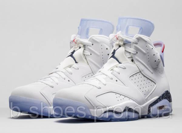 Мужские баскетбольные кроссовки Air Jordan Retro 6 (White)