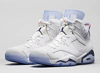 Мужские баскетбольные кроссовки Air Jordan Retro 6 (White), фото 1