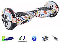 """Гироборд Smart Balance Wheel 6,5"""" Original Граффити белый"""