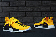 Мужские кроссовки Adidas x Pharrell Williams Human Race NMD Yellow топ реплика, фото 3