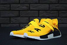 Мужские кроссовки Adidas x Pharrell Williams Human Race NMD Yellow топ реплика, фото 2