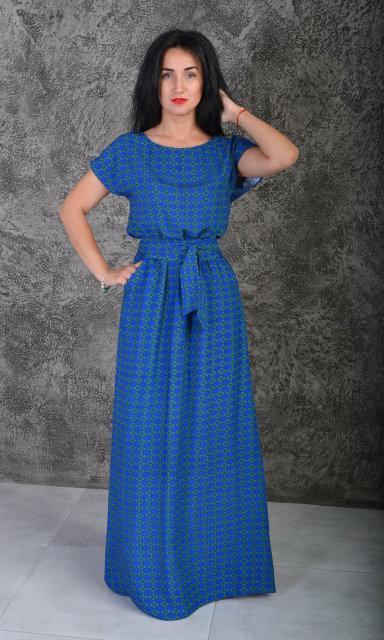 55aa84211f774be Длинное платье из штапеля больших размеров - оптово - розничный интернет -  магазин
