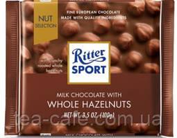 "Шоколад Ritter Sport ""Цельный фундук"" 100 гр."