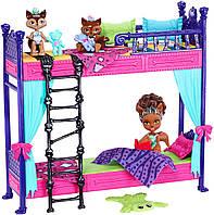 Набор Monster High кровать с семьей Клодин Вульф