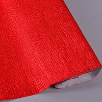 Креп бумага металлизированная красная 803 Все для флористики и декора