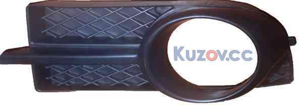 Решетка противотуманной фары Chevrolet Aveo T250 (06-12), ZAZ Vida - п