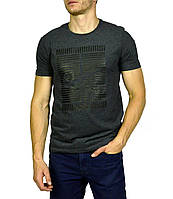 Серая мужская футболка с рисунком NIKE, фото 1