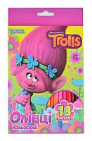 Карандаши  18 цв. ''Trolls''