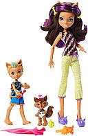 Monster High Клодин Вульф и семья Monster Family Clawdeen Wolf