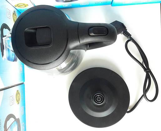 Электрочайники DOMOTEC Стеклянный с LED Подсветкой Чёрный (ВидеоОбзор), фото 2