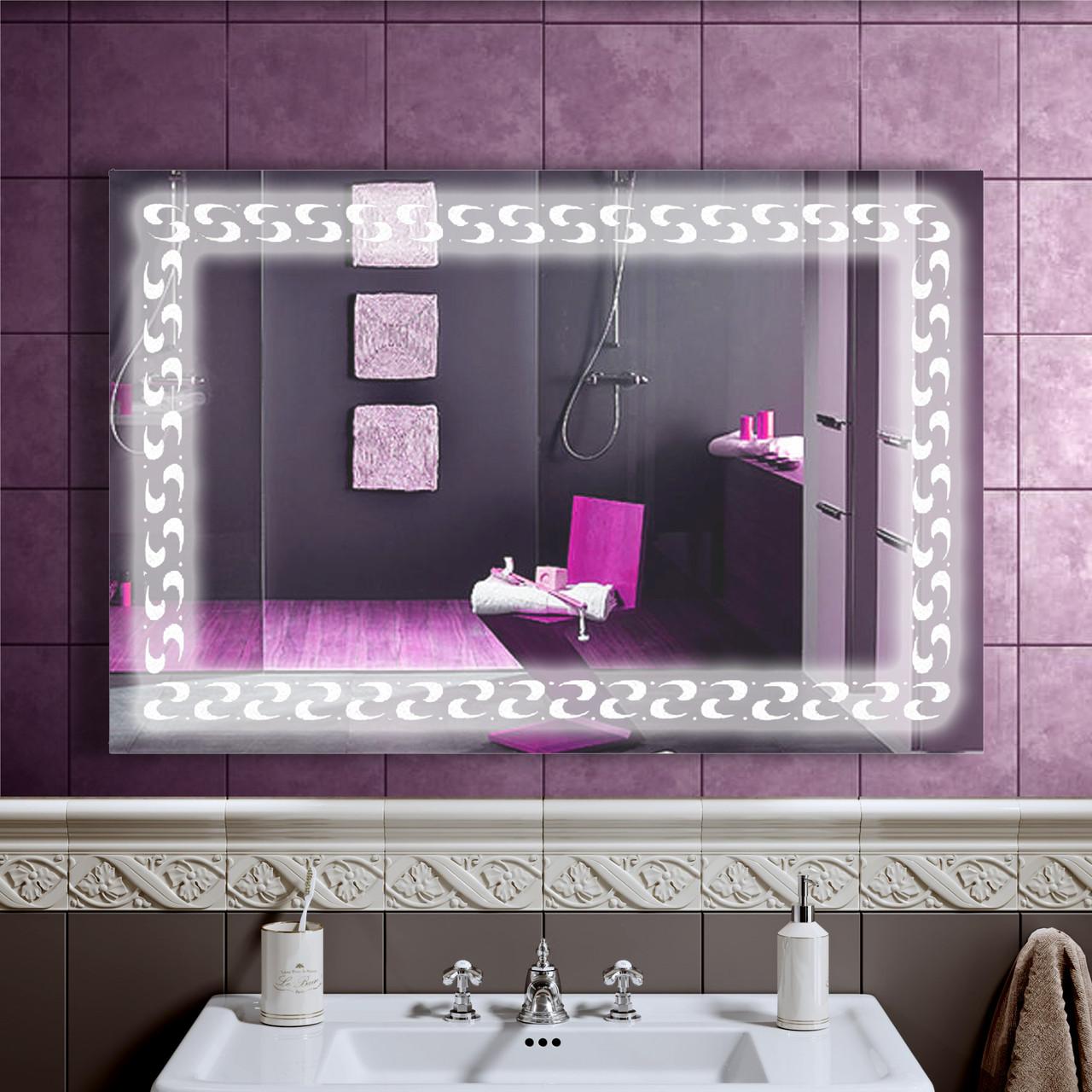 LED дзеркало у ванну зі світлодіодним підсвічуванням DV 7590 900х600 мм