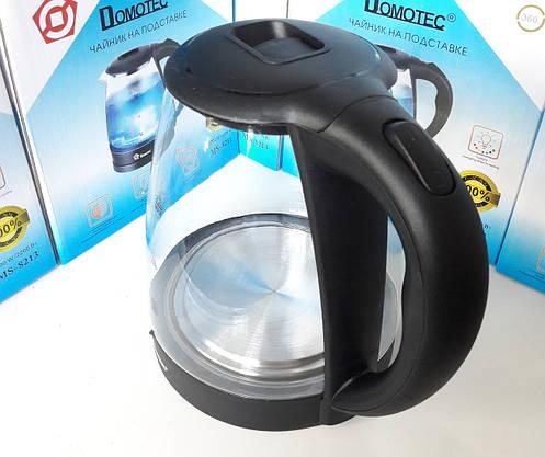 Электрочайники DOMOTEC Стеклянный с LED Подсветкой Чёрный (ВидеоОбзор), фото 3
