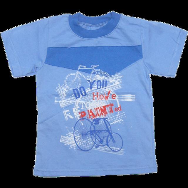 Детская футболка для мальчика р. 104 ткань КУЛИР 100% тонкий хлопок ТМ  Ромашка 4149 Синий 71215c549d777