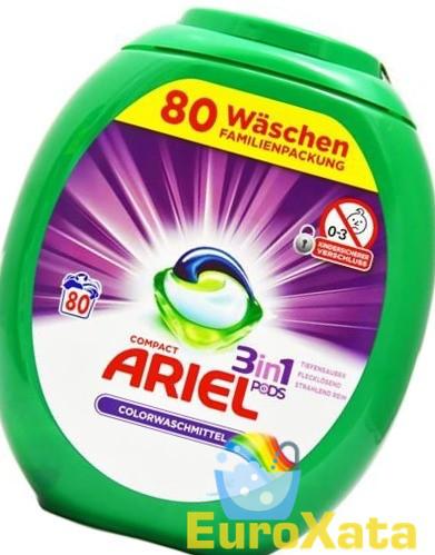 Капсулы для стирки Ariel 3in1 Pods Color (80шт) для цветного белья (Германия)