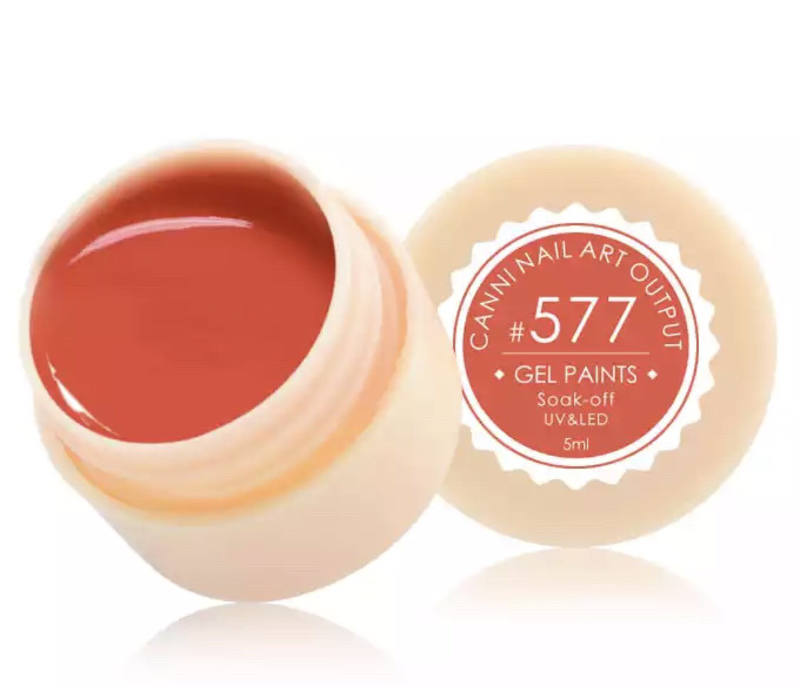 Гель-фарба CANNI 577 (яскравий червоний), 5 мл