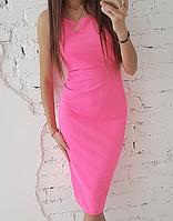 Платье с красивой спинкой миди