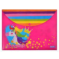 Папка-конверт на кнопке А4 ''Magic unicorn''
