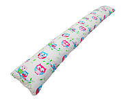 """Подушка для беременных прямая """"Сова"""" (с наволочкой, р. 168*26*15 см) ТМ KIDIGO PDV-P1"""