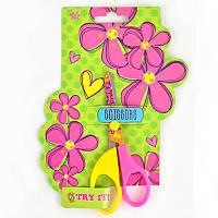 Ножницы с принтом на лезвии  ''Flowers''