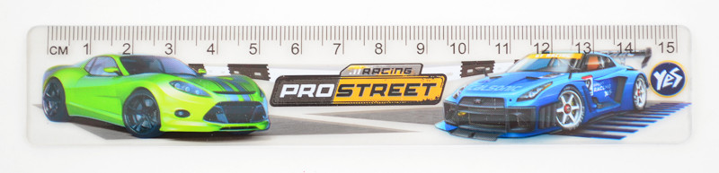 Линейка 15см Yes Street racing пластик 370418