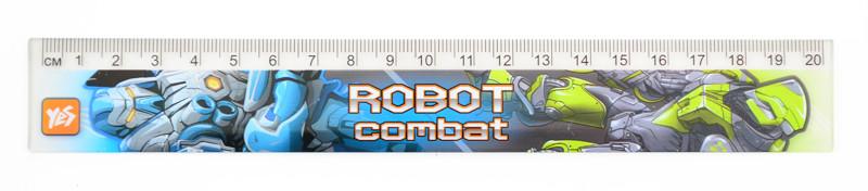 Линейка 20см Yes Cyber-dron пластик 370436