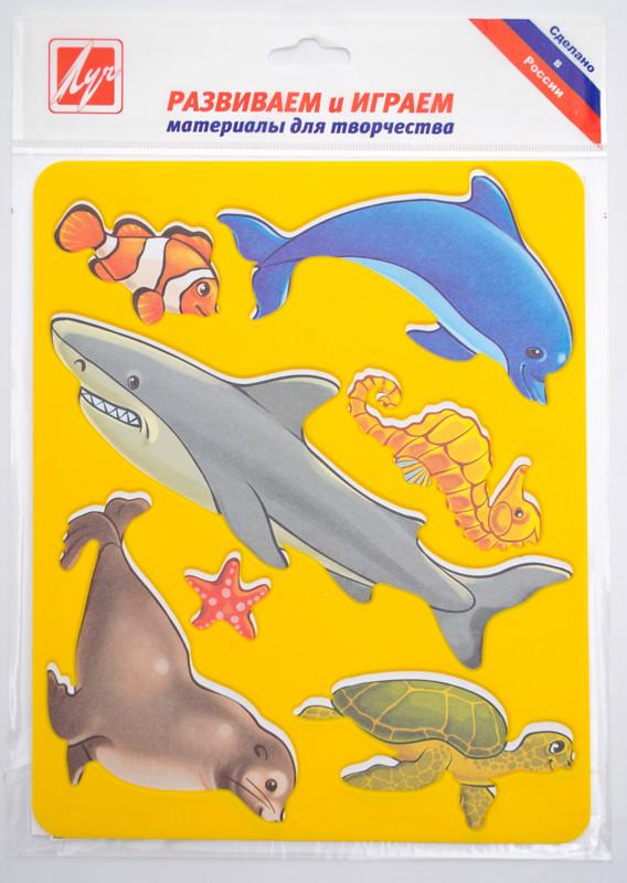 Трафарет фигурный Луч Морские обитатели пластик 370167 (9С448-08)