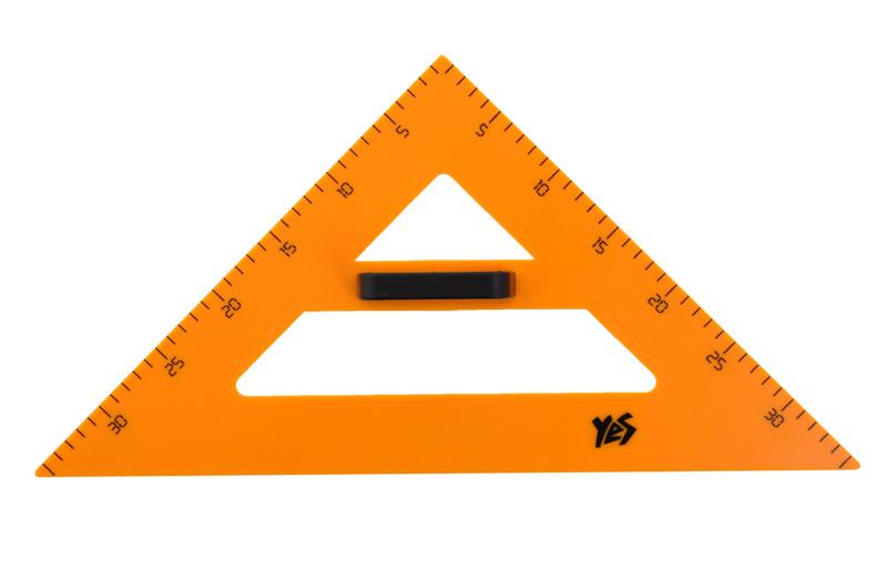 Треугольник для доски равнобедренный Yes 300мм пластик желтый 370278