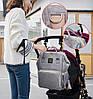Рюкзак-органайзер для мам и детских принадлежностей Machine Birds серо-голубой, фото 9
