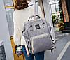 Сумка рюкзак для мамы Machine Birds серый, фото 10