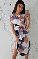 Летнее платье с круглым низом
