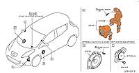 Сигнал салона предупреждающий Nissan Leaf ZE0 / AZE0 (10-17) 281H0-3NA0A