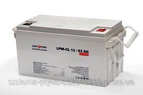 Аккумулятор  LPM-GL 12 - 65 AH LogicPower