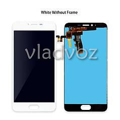 Дисплей модуль экран с сенсором для замены на Meizu M5 mini LCD белый