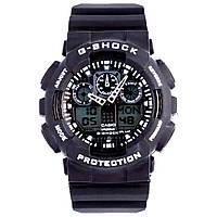 Cпортивные наручные часы Casio G-shock GA-100 (черный, красный, синий, белый)