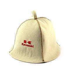 Шапка для сауни (біла), Kawasaki, штучне хутро, Saunapro
