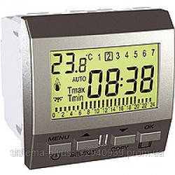Термостат Schneider-Electric Unica цифровой програмир. алюминий