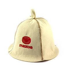 Шапка для сауни (біла), Mazda, штучне хутро, Saunapro