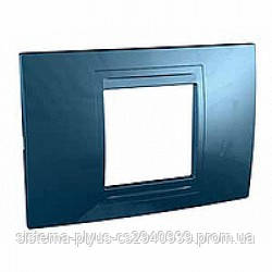 Рамка Unica Allegro 2-постовая голубой лёд