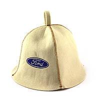 Шапка для сауны (белая), Ford, искусственный фетр, Saunapro