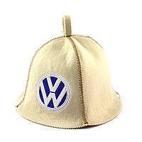 Шапка для сауны (белая), Volkswagen, искусственный фетр, Saunapro
