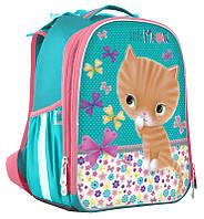 Рюкзак школьный 1 Вересня каркасный Little Meow EVA 555784