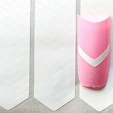 KATTi Полоски для французского маникюра 03 треугольные (52шт/лист), фото 2
