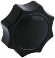 Ручка-звездочка для твердотопливного котла M12 с внутр. резьбой (карболит, восьмигранная, Ø60мм)