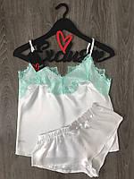 Нежный пижамный комплект майка и шорты ТМ Exclusive.