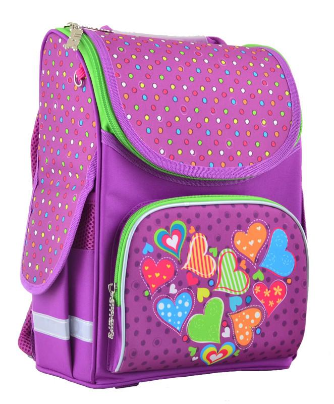 Рюкзак школьный Smart каркасный Hearts pink 554447