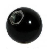 Ручка-шар для твердотопливного котла M12 с внутр. резьбой (карболит, диаметр 46мм)