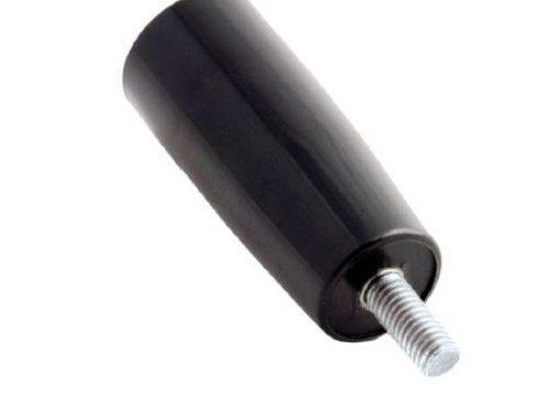 Ручка-цилиндр для твердотопливного котла прямая М10*20 с внеш. резьбой (карболит, L-93, Ø25 мм)