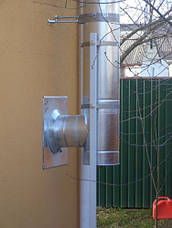 Труба-сэндвич дымоходная (термо) 0,5 метра 0,8 мм н/оц AISI 304, фото 3