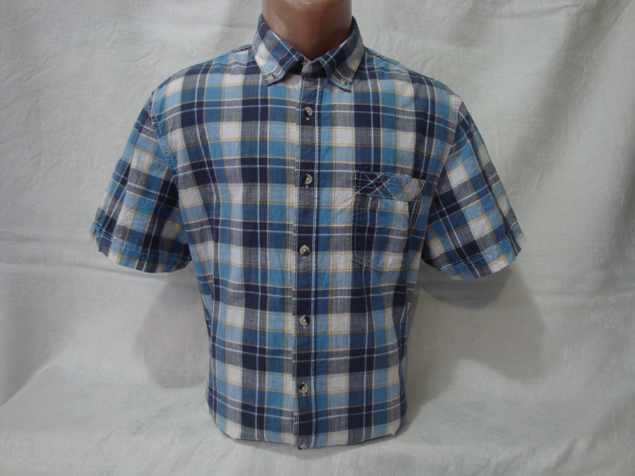 f5ba0c806a2314a Мужская рубашка с коротким рукавом в клетку Canda: продажа, цена в ...