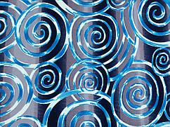 Ткань трикотаж скуба креп спираль, синий